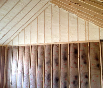 Further reduce your energy costs with spray foam insulation to prevent leaking air